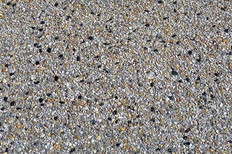 close up of washed exposed aggregate.