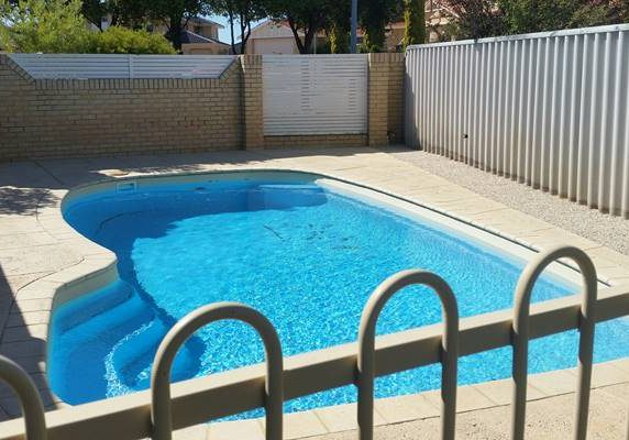 pool after concrete repair